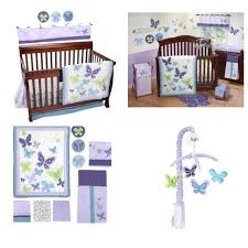 best nojo beautiful butterfly crib bed set with extra fitted