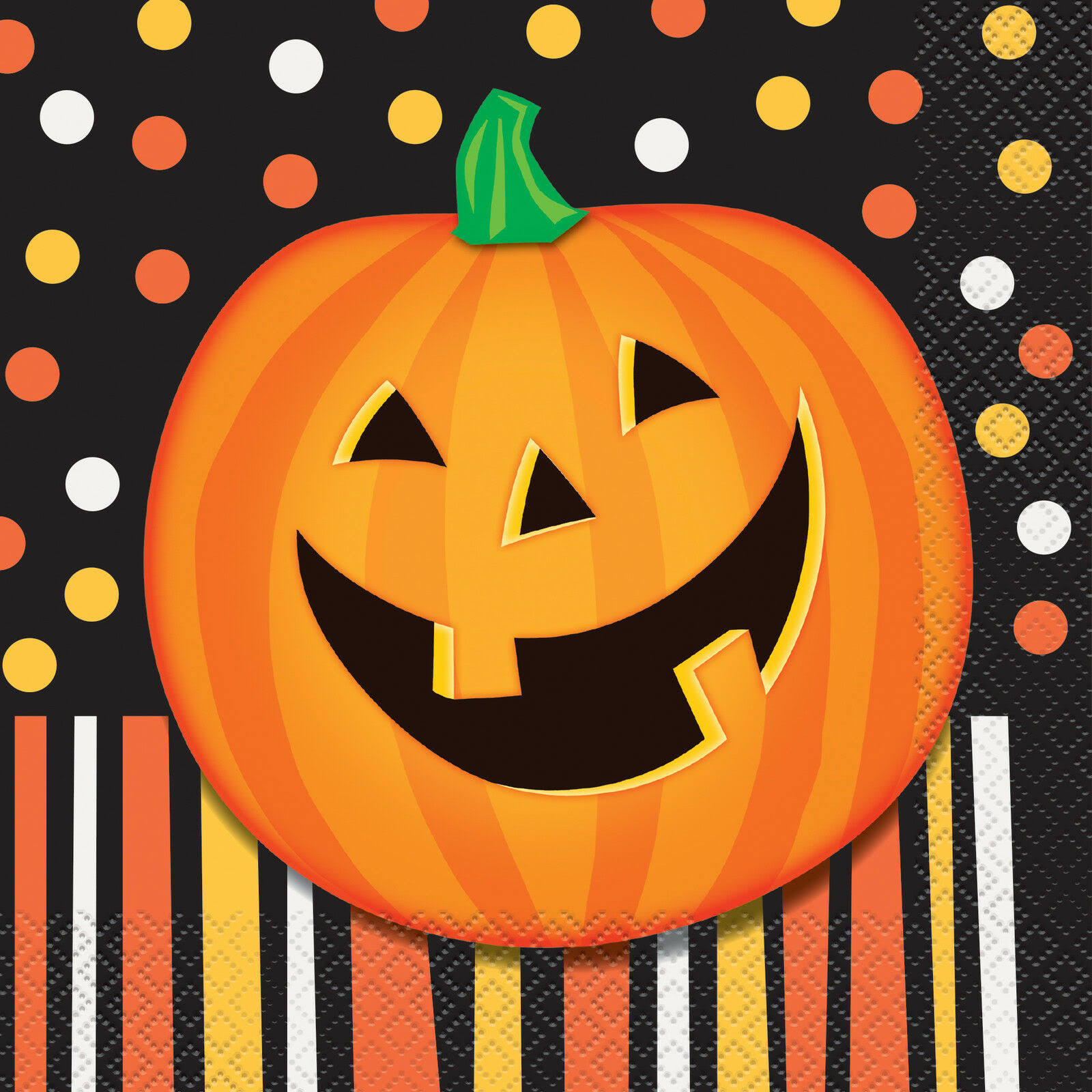 Unique Party Halloween Party Napkins - Smiling Pumpkin, 16ct