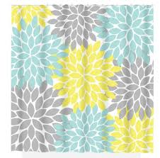 Yellow Gray And Teal Bathroom by Yellow Aqua Gray Shower Curtain Custom Monogram Personalized