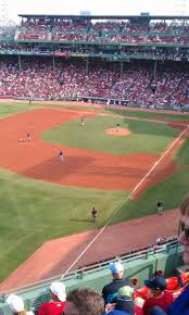 100 Pavilion 18 Fenway Park Section Box Row F Seat 7 Boston Red Sox