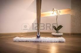 vadrouille blanc moderne nettoyage plancher de bois dans la maison
