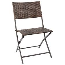 Flamaker Folding Patio Chair Rattan Foldable Chair PE Wicker Outdoor Chair  Patio Furniture Chair Space Saving Camping Chair Dining Chair For Home ... Brown Plastic Patio Chairs Cool Round Wood Outdoor Ding Set Table Acacia Fniture Easy Jordan Us Leisure Resin Adirondack Chair In Modish Boardwalk 81 Luxurious Gallery For Stackable Pair Of Sculptural Alinum After Walter Lamb 38 Dark Wicker Of 4 Espresso Beautiful 1103design Ideas Pacific Whiskey Allweather Adjustable Chaise Lounger With Side 3piece