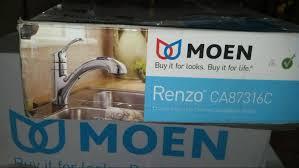 Moen Renzo Chrome Single Handle Kitchen Faucet by Moen Ca87316c Renzo Single Handle Pullout Kitchen Faucet Chrome