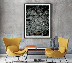 Goiania Brazil CANVAS Large Art City Map