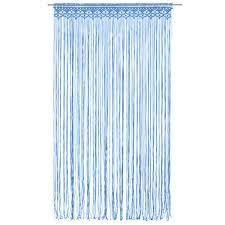 makramee vorhang blau 140x240 cm baumwolle