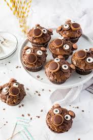 bärenmuffins mit doppelt schoko und toffifee
