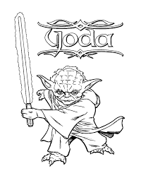 Clever Ideas Yoda Coloring Pages Star Wars