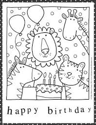 Happy Bday Coloring Pages