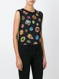 moschino backpack sale moschino jewel print knit vest women