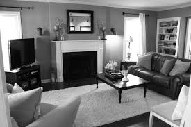 Black Leather Sofa Decorating Ideas by Black Leather Couch With Grey Cushions Combined By Rectangular