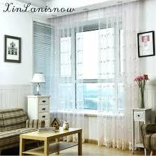 Dining Room Silk Curtains Turkey Embroidery Jacquard Milk Garden Gauze Window For Living