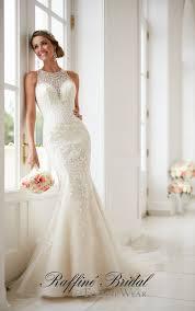 stella york 6435 this elegant high neck wedding dress with lace