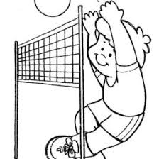 Volleyball Coloring Pages To Color Clip Art