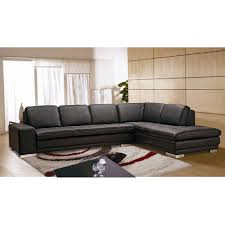 Beverly Hills Furniture Block Sectional LHF Full Leather Facing
