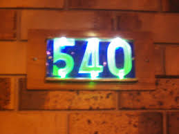house number sign light bulb house design and ideas