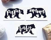Papa Bear Mama Baby Tattoos Family Set In Black Perfect For Photo Shoots Cute Parents Kids