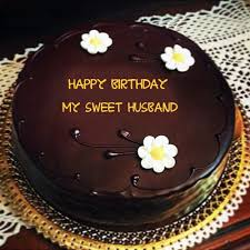 Beautiful Flowers With Chocolate Birthday My Sweet Husband Name Wishes Cakes Pix