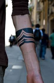 Beautiful Tribal Arm Band Tattoo Design For Boys Looks Bold And Nice