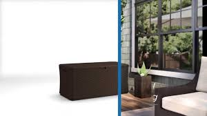 Suncast 195 Gallon Deck Box Manual by Suncast Bmdb13400 Deck Box Youtube