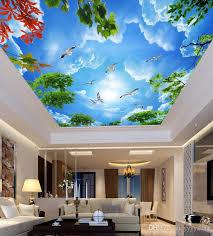 großhandel moderne tapete für wohnzimmer schöner blauer himmel und weiße wolken wohnzimmer decke deckenfresken yyyy2015 30 05 auf de dhgate