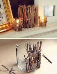 CUTE N CRAFTY Twig Candle Holder Candles Diy Crafts Home Made Easy Craft Idea Ideas Do It Yourself Projects
