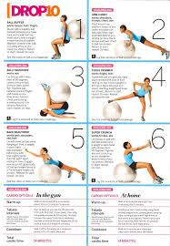 Stability ball workout The link takes you to a tumblr with