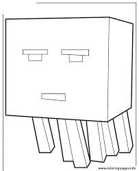 Cartoon Ghast From Mine Craft Coloring Pages
