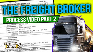 100 Truck Broker THE FREIGHT BROKER PROCESS VIDEO PART 2 Freight Training Www