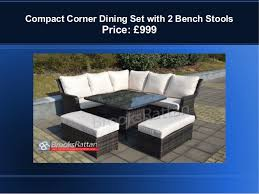 Compact Corner Dining Set With 2 Bench Stools Price GBP999