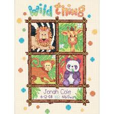 Frosted Pumpkin Stitchery Kit by Baby Hugs Wild Thing Birth Record Counted Cross Stitch Kit 73250