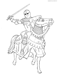 Cool Coloring Pages Knights 99