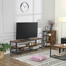 vasagle fernsehtisch für fernseher bis zu 60 zoll großer tv schrank konsole wohnzimmertisch kaffeetisch mit metallgestell schlafzimmer