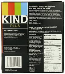KIND PLUS Dark Chocolate Cherry Cashew Antioxidants Gluten Free Bars Count Of 12 Amazon Grocery Gourmet Food