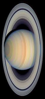 Saturn S Rings In Visible Light Image From NASA Hubble