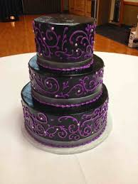 Art Rustic Purple And Black Wedding Cakes Hydrangea Cake Masterpieces Elegant White