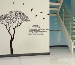 Huge Lemon Tree Birds Quotes Saying Art Pvc Wall Stickers Decals