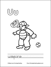 Print The Pdf Umpire Coloring Page And Color Picture