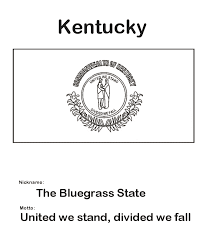 Kentucky Flag Coloring Page Usa Printables State Of Pages Easy Cartoon