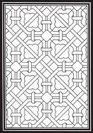 From Geometric Genius Stained Glass Coloring Book Mas