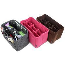 pelikus felt purse organizer insert multi pocket handbag shaper pi
