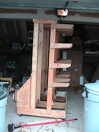 how to build a rolling wood storage rack plans diy free download