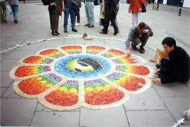 The Longing To Instill Symbolic Meaning Of Rainbow Into Viewers Hearts Minds Artist Dean Edward Mulroy Have Been Creating Stone Mandalas