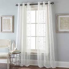 Sheer Curtain Panels With Grommets by Floral Scroll 2 Pack Grommet Top Sheer Curtain Panel Jcpenney