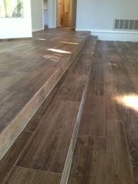 porcelain wood look ceramic tile on the stairs all flooring
