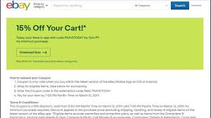 15% Off EBay App Coupon: Expires 10:00 PM EST Anthropologie Promo Code Shoes Westjet Coupon 2019 July What Is The Honey Extension And How Do I Get It Ebay Kicks Off Early Black Friday Deals With 20 Top Express Den Discount Barnes Ebay Coupons Today Drysdales Free Voucher Codes Reel Cinema Redemption Ebay Vitamine Shoppee Tire Deal Rothys Podcast Gift Card How To Shogun Audio Woodcraft Shipping Free Coupon Code To Get Gift Card