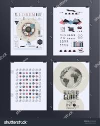 Modern Infographic Poster Background And Typography Vintage Elements Set