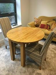Round Solid Oak Table And 2 Dining Chairs | In Highcliffe, Dorset | Gumtree Table Glass Likable Solid Chairs Legs Base Round Avenue Oak Top Natural Lacquer Ausgezeichnet Small Wood Ding Tables Spaces Argos Extra Large Chestnut Finish Jacobian 42 Open Up To 60 Wood Top And Four Chairs 6484 Room With Hidden Leaves Missouri Pedestal 6 Set And Napolean 4 White