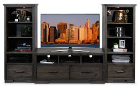 Sofia Vergara Collection Furniture Canada by Hayden 3 Piece Entertainment Wall Unit Slate Leon U0027s