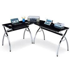 Small Glass And Metal Computer Desk by Amazon Com Techni Mobili Hip Black Glass Corner Computer Desk