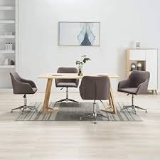 vidaxl 4x esszimmerstuhl drehbar bürostuhl drehstuhl